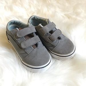 Toddler grey and brown leather VANS size 6.5